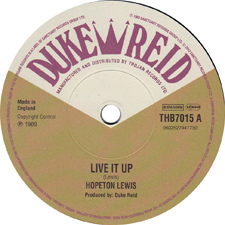 Hopeton Lewis - Live It Up (Duke Reid)