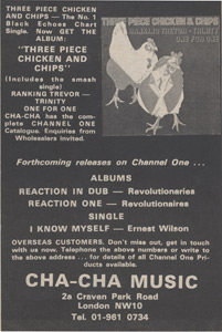 Advert for Three Piece Chicken And Chips 1978