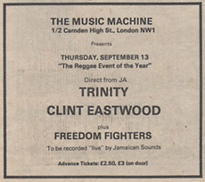 Trinity at the Music Machine Sept '79