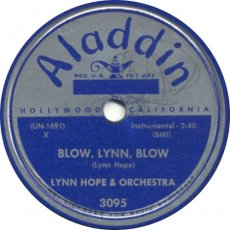 Lynn Hope & His Orch. - Blow Lynn Hope