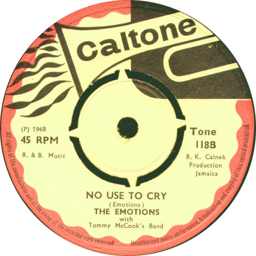 TONE118B - The Emotions - No Use To Cry