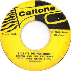 Romeo & The Emotions - I Can\'t Do No More
