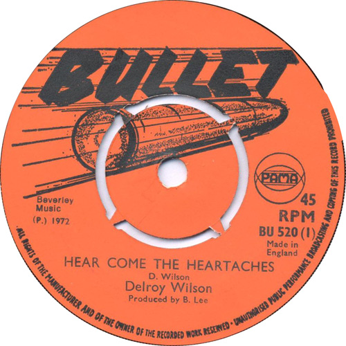 Delroy Wilson - Here Come The Heartaches