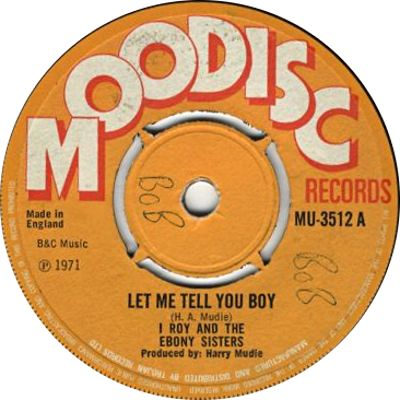 I Roy - Let Me Tell You Boy