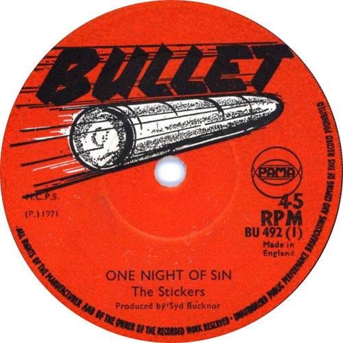 The Stickers - One Night Of Sin