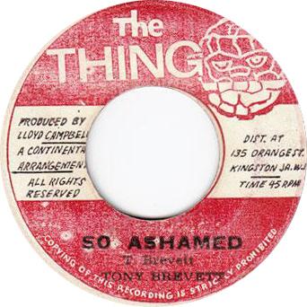 Tony Brevett - So Ashamed