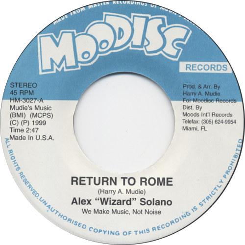Alex Solano - Return To Rome