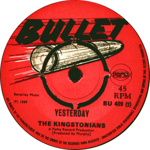 The Kingstonians - Yesterday