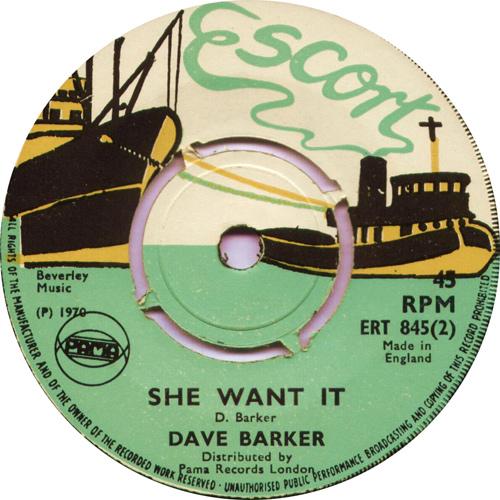 ERT845B Dave Barker - She Want It