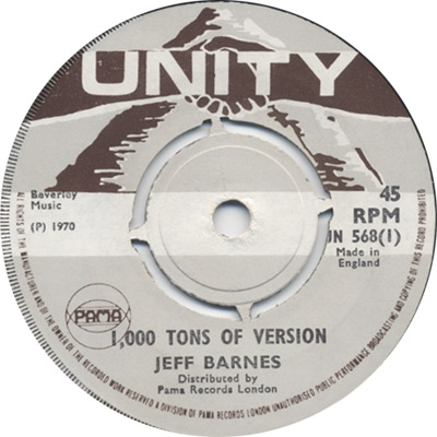 Jeff Barnes And Roland Alphonso - 1,000 Tons Of Version