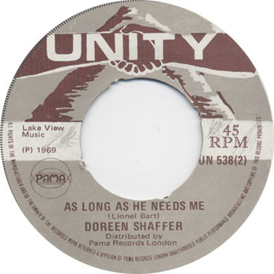 Doreen Schaeffer - As Long As He Needs Me