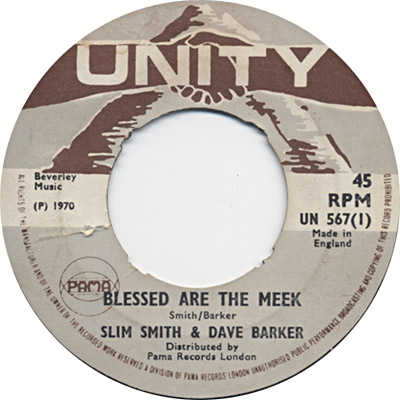 Dave Barker And Slim Smith - Blessed Are The Meek