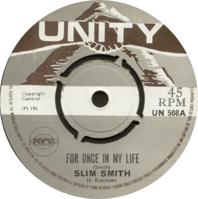 Slim Smith - For Once In My Life