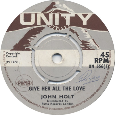 John Holt - Gonna Give Her All The Love
