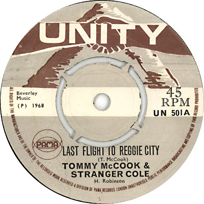 Stranger Cole And Tommy McCook - Last Flight To Reggie City