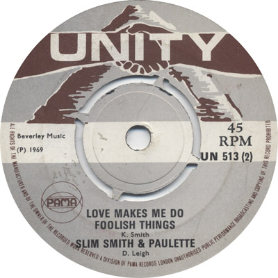 Slim And Paulette - Love Makes Me Do Foolish Things