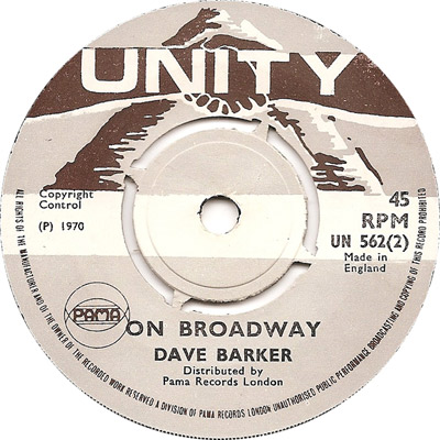 Dave Barker - On Broadway