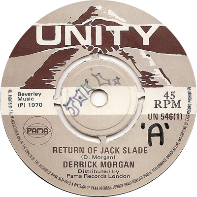 Derrick Morgan - Return Of Jack Slade