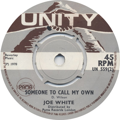 Joe White - Someone To Call My Own