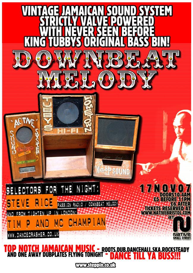 Poster - Downbeat Melody - Nov 2007