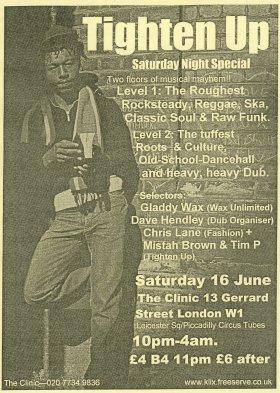 Flyer - Tighten Up - June 2001