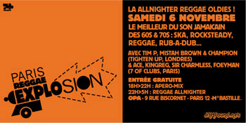 Flyer - Paris Reggae Explosion - Nov 2004
