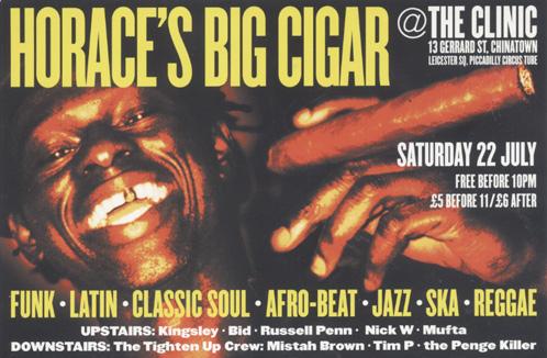 Flyer - Horace's Big Cigar - Sept 2000
