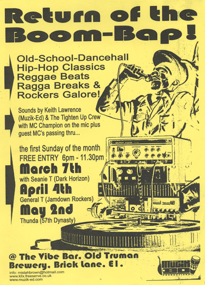 Poster - Return Of The Boom-Bap - March-May 2003