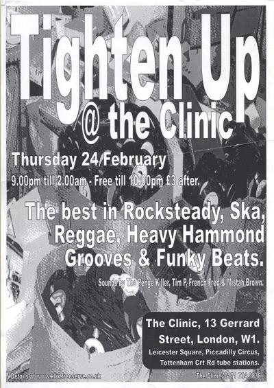 Poster  - Tighten Up -  Feb 2001