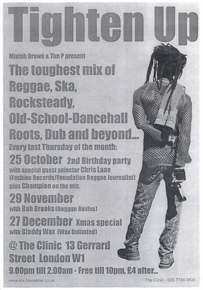 Poster - Tighten Up - Oct-Dec 2001