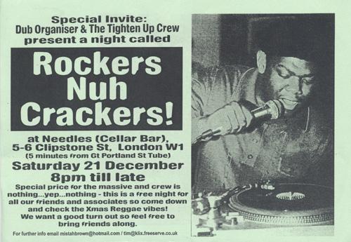 Flyer - Rockers Nuh Crackers - Dec 2002