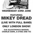 Flyer - Mikey Dread concert - June 2003