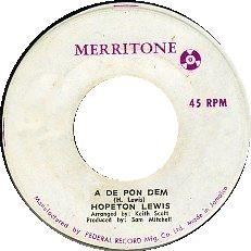 Hopeton Lewis - A De Pon Dem
