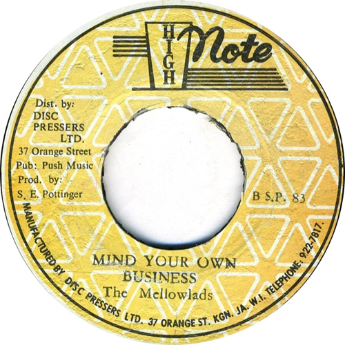 The Mellowlads - Mind Your Own Business