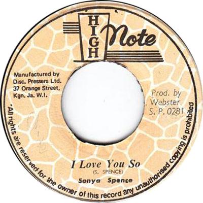 Sonya Spence - I Love You So