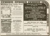 Greensleeves Advert