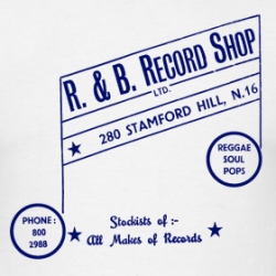 R & B Records - T-Shirt detail
