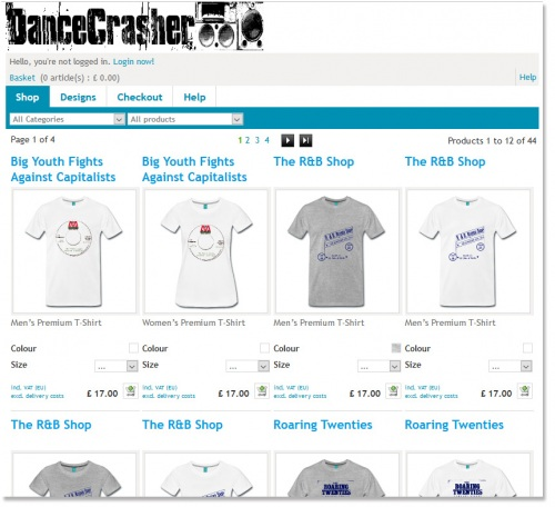 DanceCrasher Tshirts